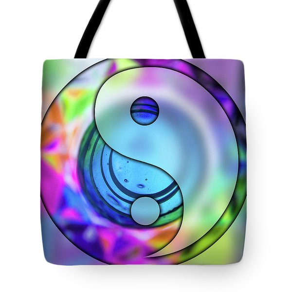 Yin And Tang In Purple  Tote Bag