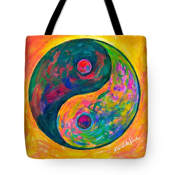 Yin Yang Flow Tote Bag