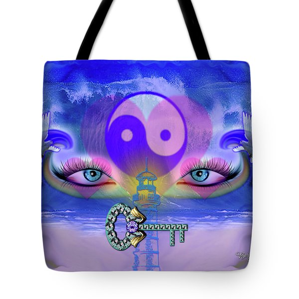 Yin Yang Key To Peace #190 Tote Bag