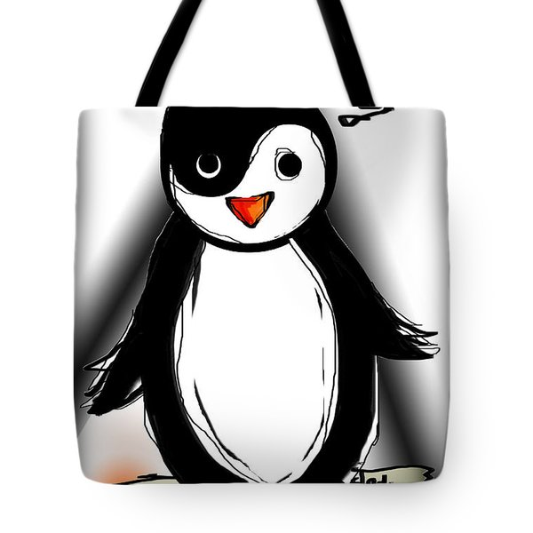 Yin Yang Penguin  Tote Bag by Sladjana Lazarevic