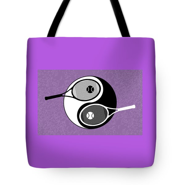 Yin Yang Tennis Tote Bag by Carlos Vieira