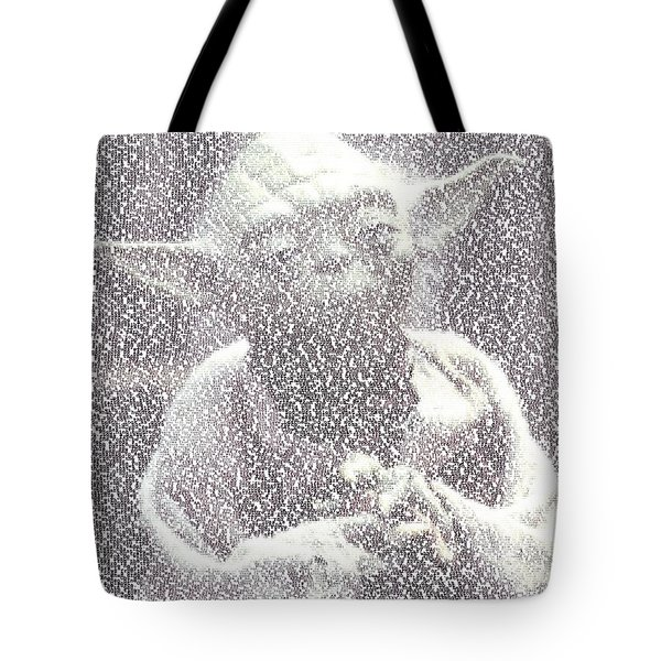 Yoda Quotes Mosaic Tote Bag by Paul Van Scott