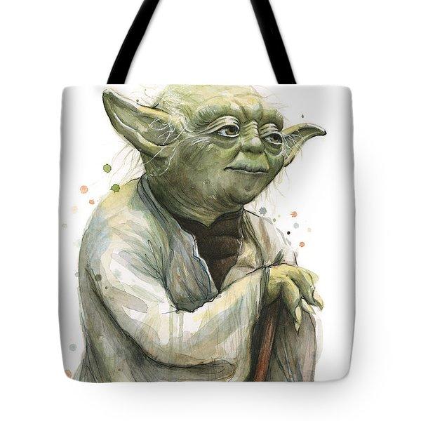 Yoda Watercolor Tote Bag
