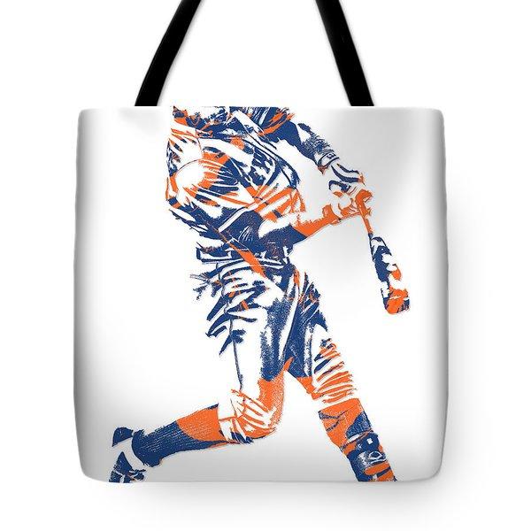 Yoenis Cespedes New York Mets Pixel Art 1 Tote Bag