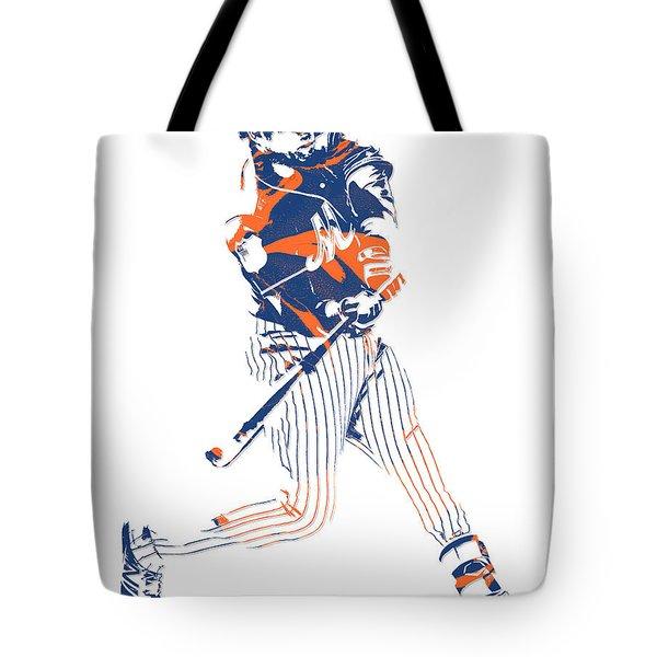 Yoenis Cespedes New York Mets Pixel Art 2 Tote Bag