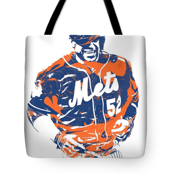 Yoenis Cespedes New York Mets Pixel Art 3 Tote Bag