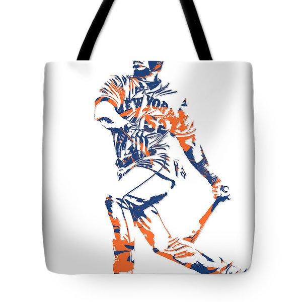 Yoenis Cespedes New York Mets Pixel Art 4 Tote Bag