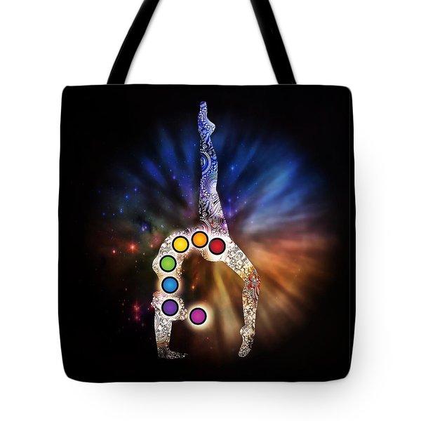 Yoga Chakra Art Tote Bag by Serena King
