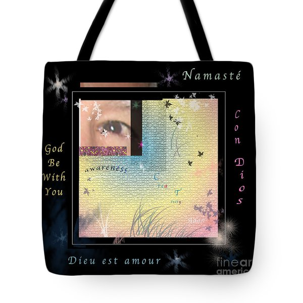 Tote Bag featuring the photograph Yoga Creativity And Awareness by Felipe Adan Lerma