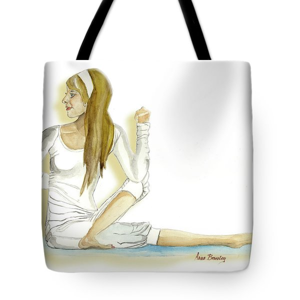 Tote Bag featuring the painting Yoga Girl by Anne Beverley-Stamps
