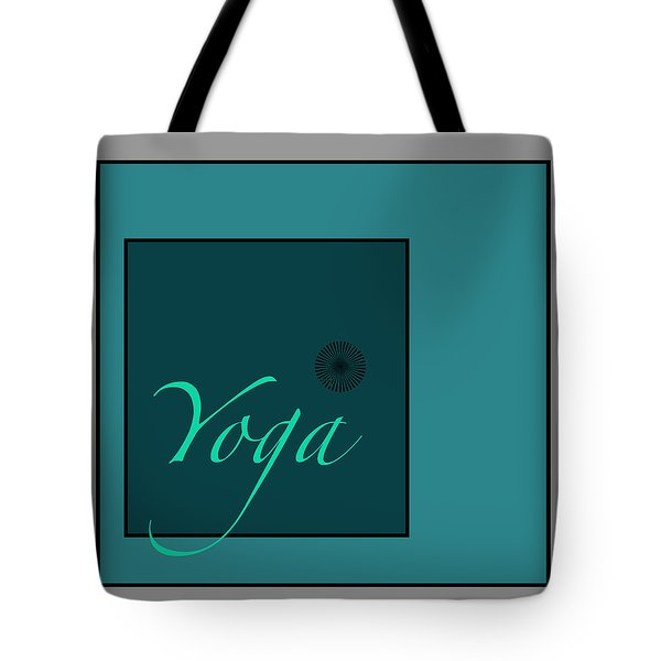 Yoga In Blue Tote Bag by Kandy Hurley