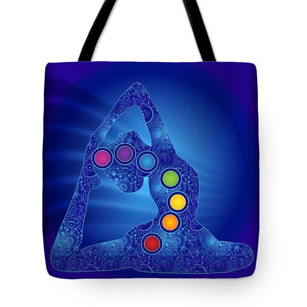 Yoga Pose Chakra Tote Bag