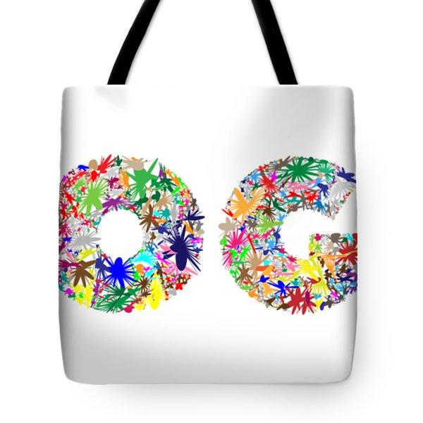 Yoga Word Art Tote Bag