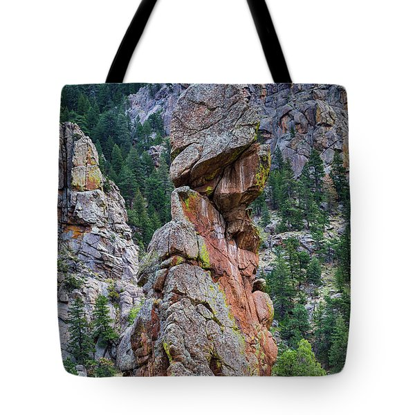 Tote Bag featuring the photograph Yogi Bear Rock Formation by James BO Insogna
