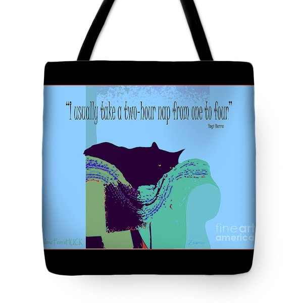 Yogi Cat Nap Tote Bag