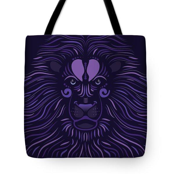 Yoni The Lion - Dark Tote Bag by Serena King