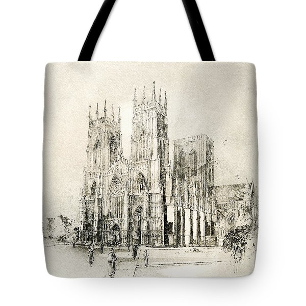 York Minster, York, England. West Front Tote Bag