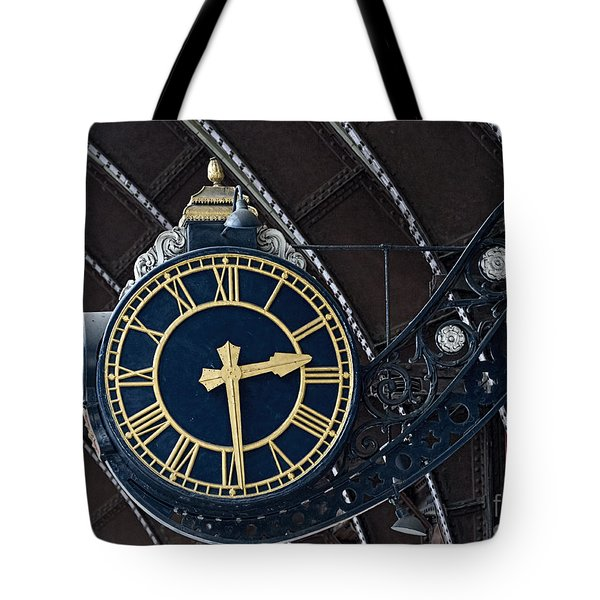 York Railway Station Clock Face Tote Bag