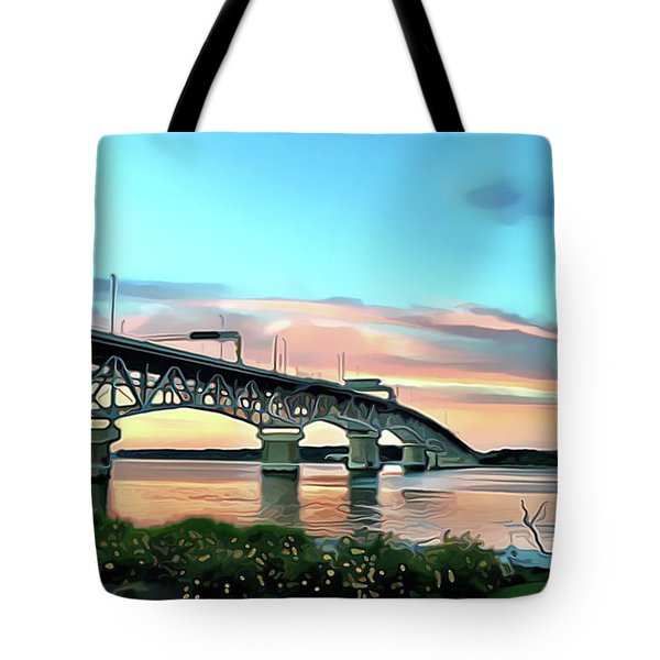 York River Bridge Tote Bag