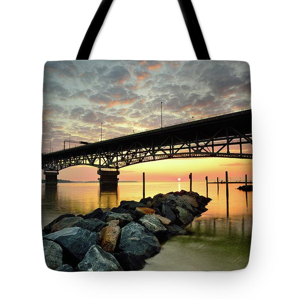 York River Sunrise Tote Bag