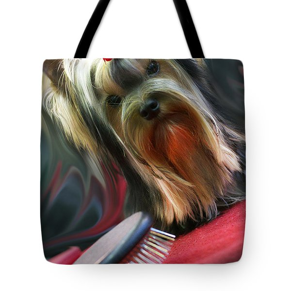 Yorkie Tote Bag by Graham Hawcroft pixsellpix