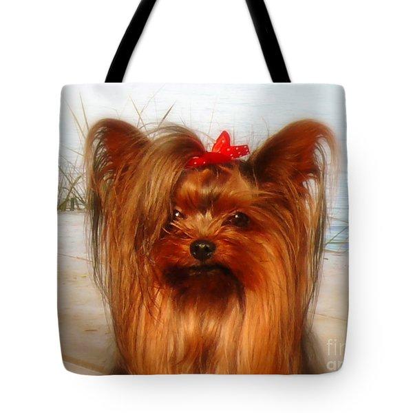 Yorkie Princess Tote Bag