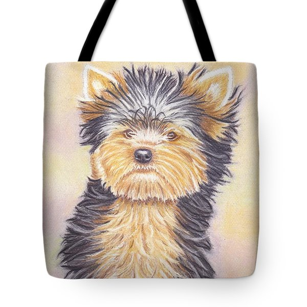 Yorkie Puppy Tote Bag