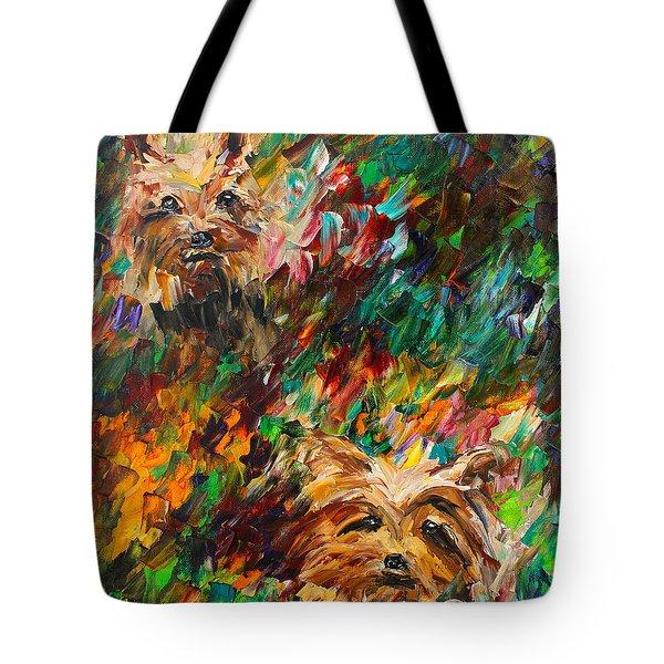 Yorkies Tote Bag