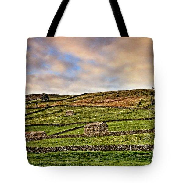 Yorkshire Dales Stone Barns And Walls Tote Bag
