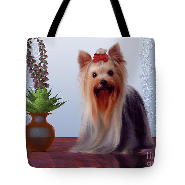 Yorkshire Terrier Tote Bag by Corey Ford