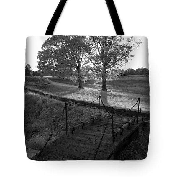 Yorktown - Battlefield Foot Bridge Tote Bag