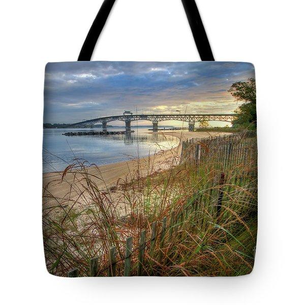 Yorktown Beach Sunrise Virginia Tote Bag