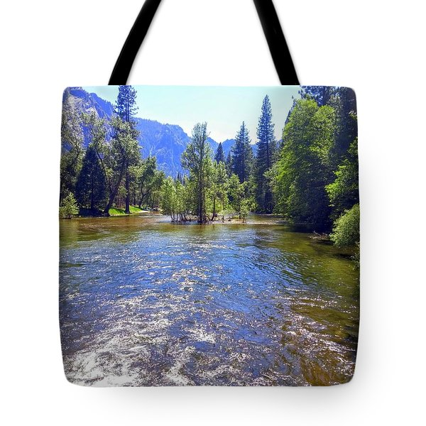 Yosemite River At Ease Tote Bag