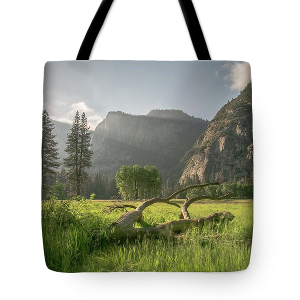 Sundown On The Valley Tote Bag