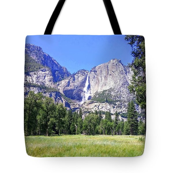 Yosemite Valley Waterfall Tote Bag