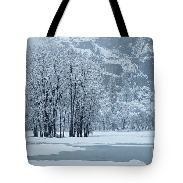 Tote Bag featuring the photograph Yosemite - A Winter Wonderland by Sandra Bronstein