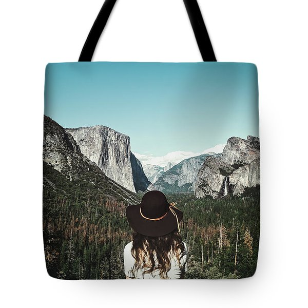 Yosemite Awe Tote Bag by Marji Lang