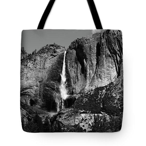 Yosemite Black Falls  Tote Bag