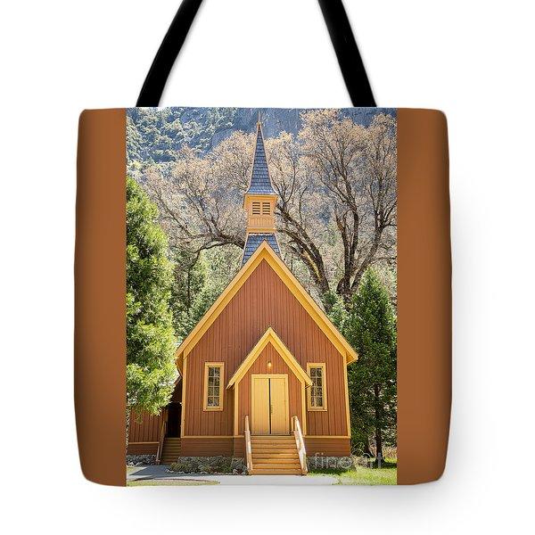 Yosemite Chapel Tote Bag