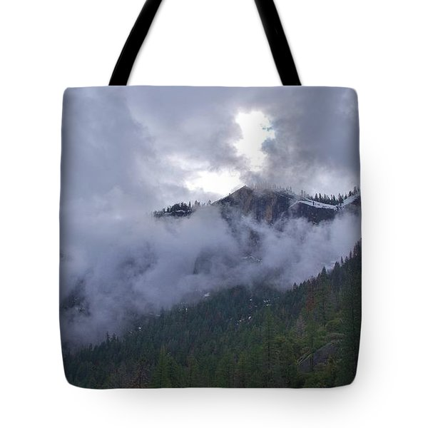 Tote Bag featuring the photograph Yosemite Clouds Bbbbbbbbbbbb by Phyllis Spoor