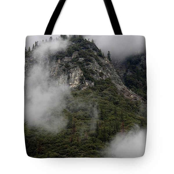 Tote Bag featuring the photograph Yosemite Clouds by Phyllis Spoor