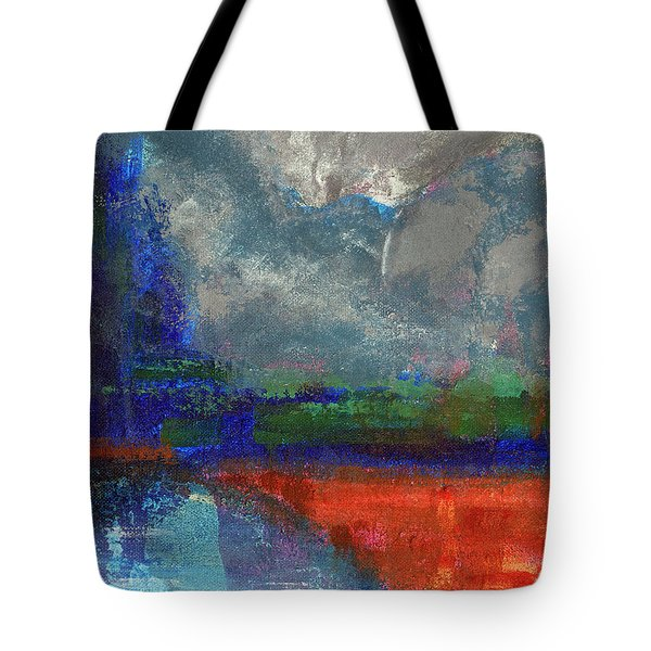 Tote Bag featuring the painting Yosemite Fall Reflections  by Walter Fahmy