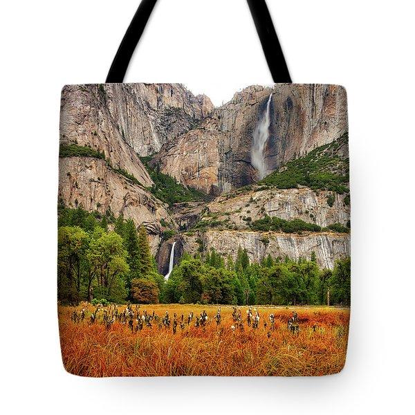 Yosemite Falls Autumn Colors Tote Bag