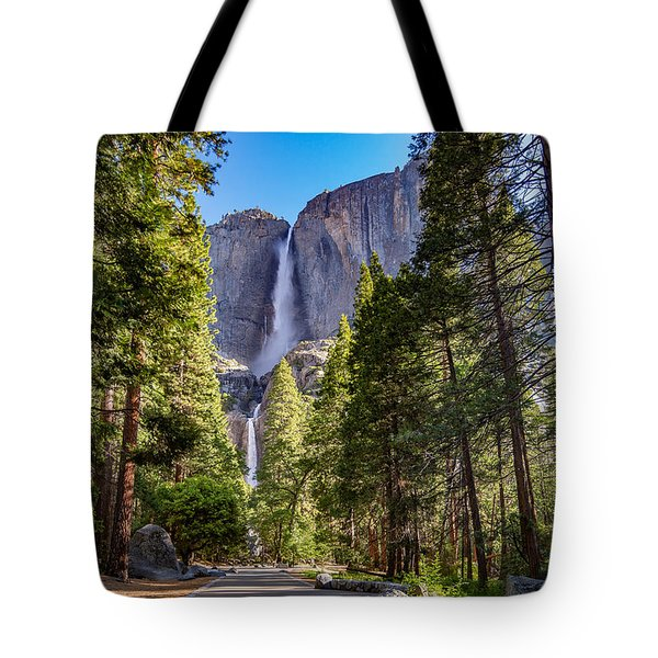 Tote Bag featuring the photograph Yosemite Falls V3.0 by Phil Abrams