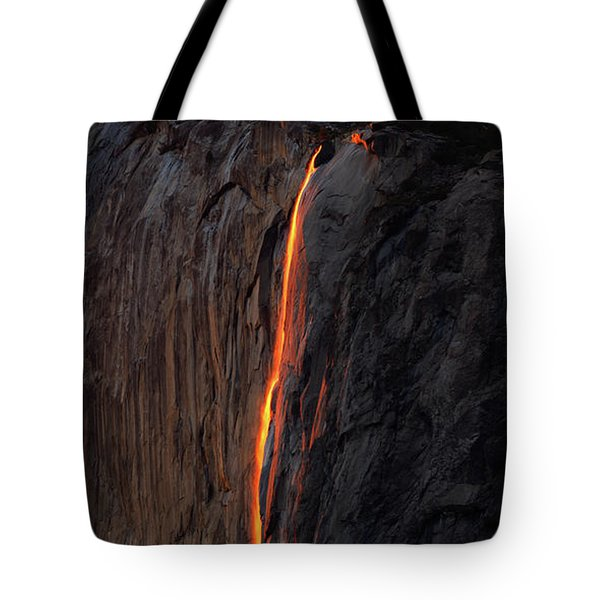 Yosemite Fire Falls - 2016 Tote Bag