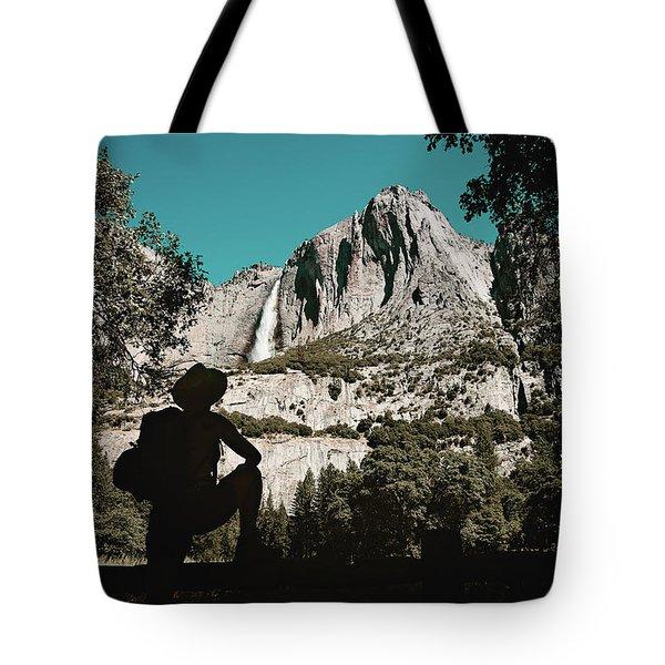 Yosemite Hiker Tote Bag by Marji Lang