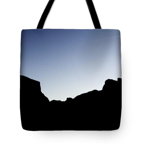 Yosemite In Silhouette Tote Bag
