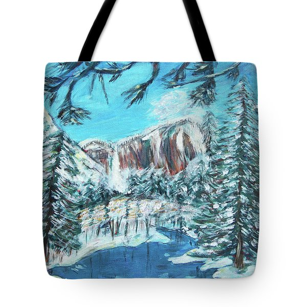 Yosemite In Winter Tote Bag by Carolyn Donnell