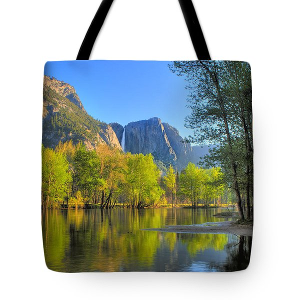 Tote Bag featuring the photograph Yosemite Reflections by Kim Wilson