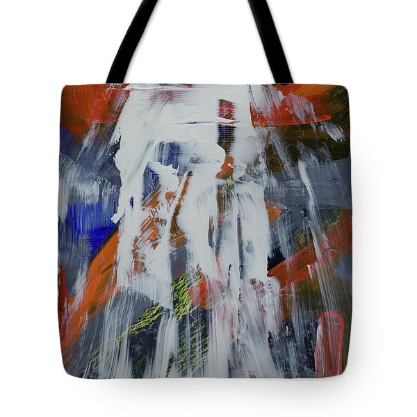 Tote Bag featuring the painting Yosemite Spring Falls by Walter Fahmy